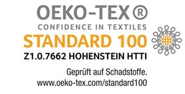 Oeko-Tex Zertifikat für Badenia Madrid Klappmatratze